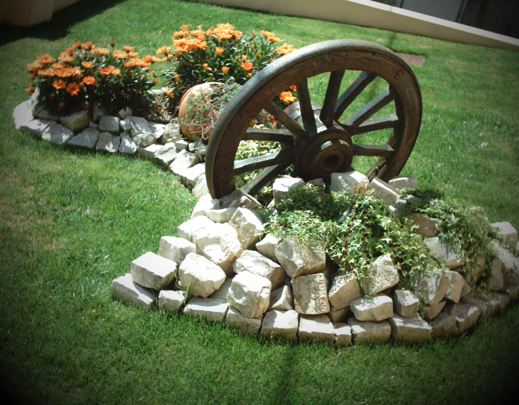 Decoraç u00e3o de Jardim 50 modelos incríveis para voc u00ea se inspirar Fazer em Casa -> Decoração De Jardim Com Vasos E Pedras